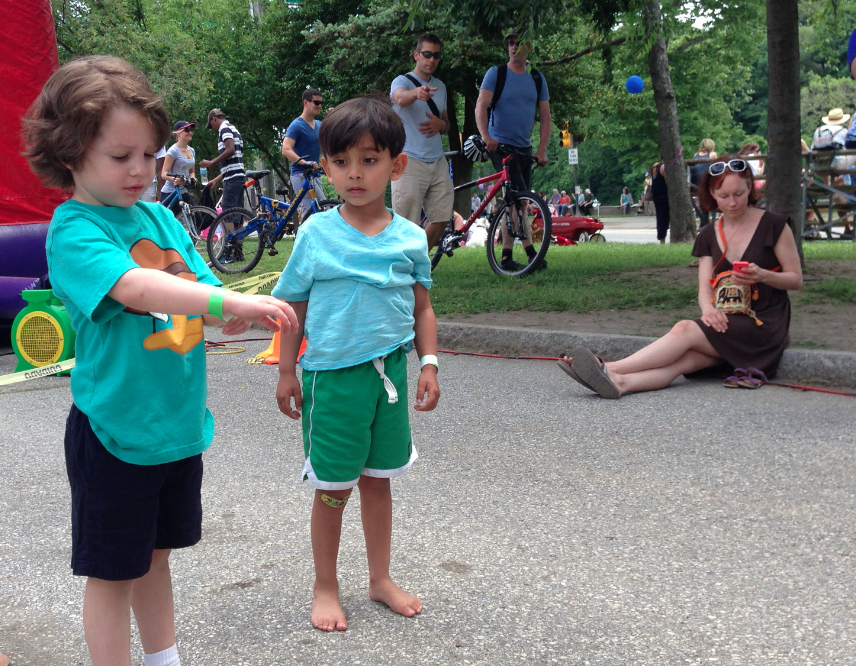 A Great Shot From The East Falls Bike-Race Block Party