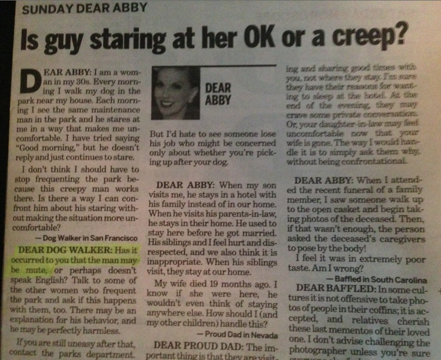 Today In Memorable Dear Abby Responses