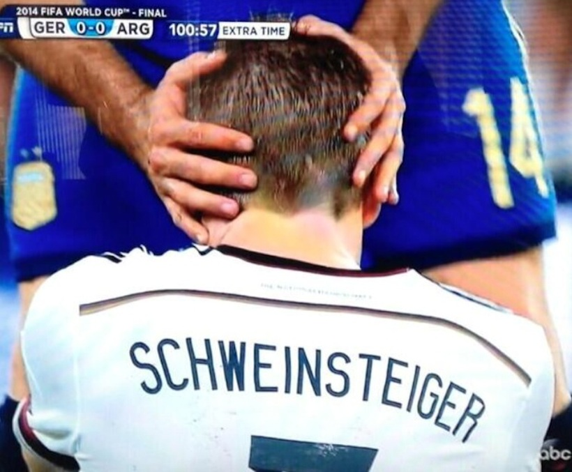 Here's That Uncomfortable Photo Of Bastian Schweinsteiger In The World Cup Final