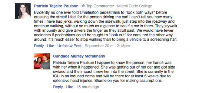 Horrible Person Patricia Teijeiro Paulson Likes Blaming Hit-And-Run Victims, Posting Racist Comments Online