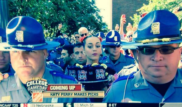 Here Are Some Highlights From Katy Perry's Appearance On College GameDay [Updated]