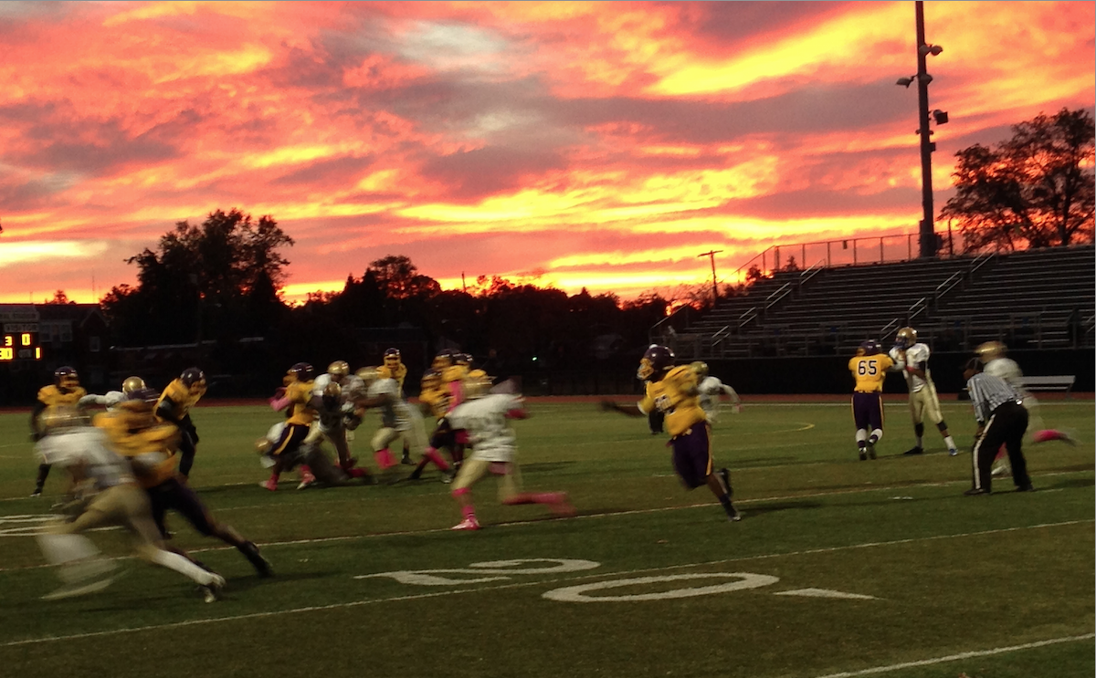 When Sunsets Make High-School Football iPhone Pictures Beautiful
