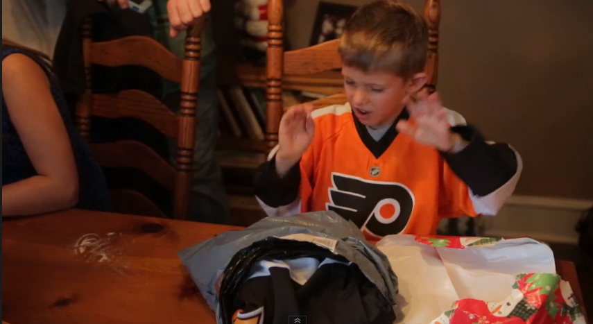 Young Flyers Fan Recoils At Thought Of Penguins-Jersey Gift, Is Smart For His Age