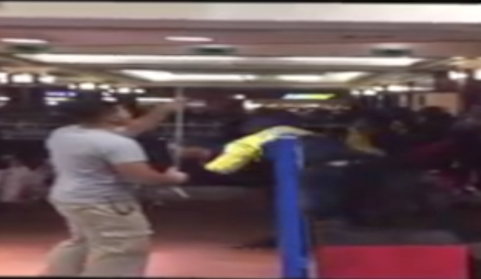 Hey Look, A Taser-Involved Brawl By What Appears To Be The Gallery Food Court