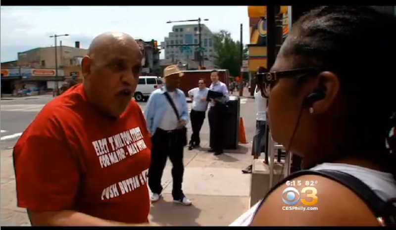 Yeah, That Was Me Chilling In The Background Of CBS3′s Story On Milton Street