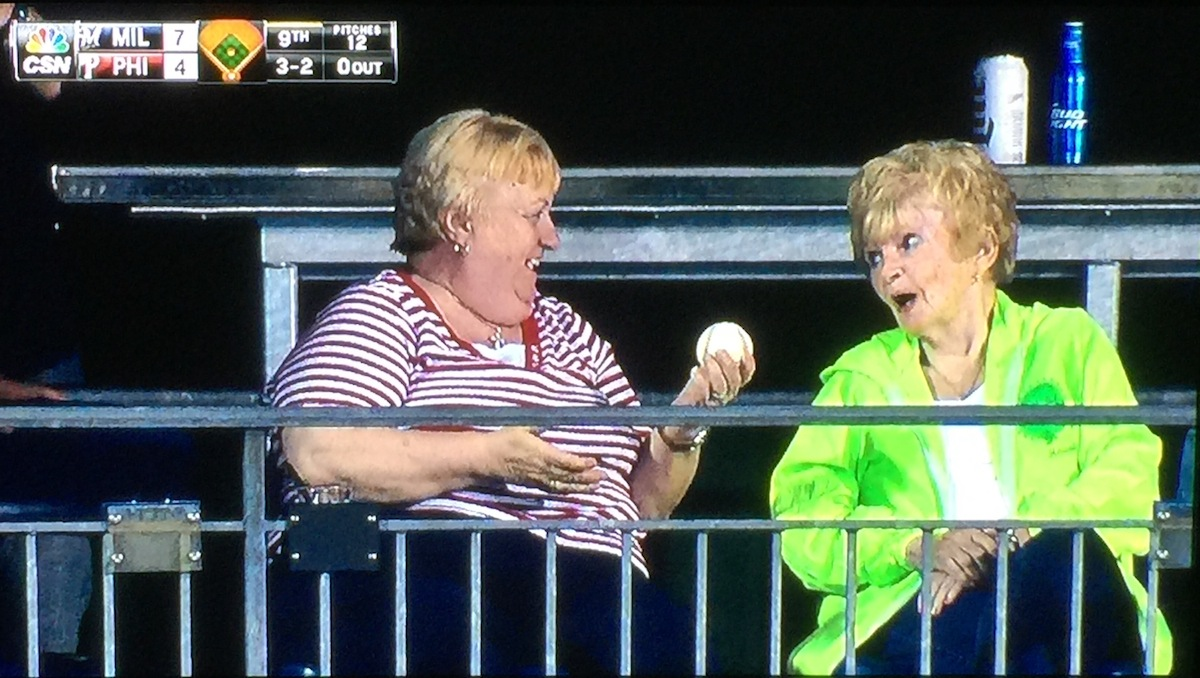 Here's A Cute Photo From The June 29 Phillies/Brewers Game