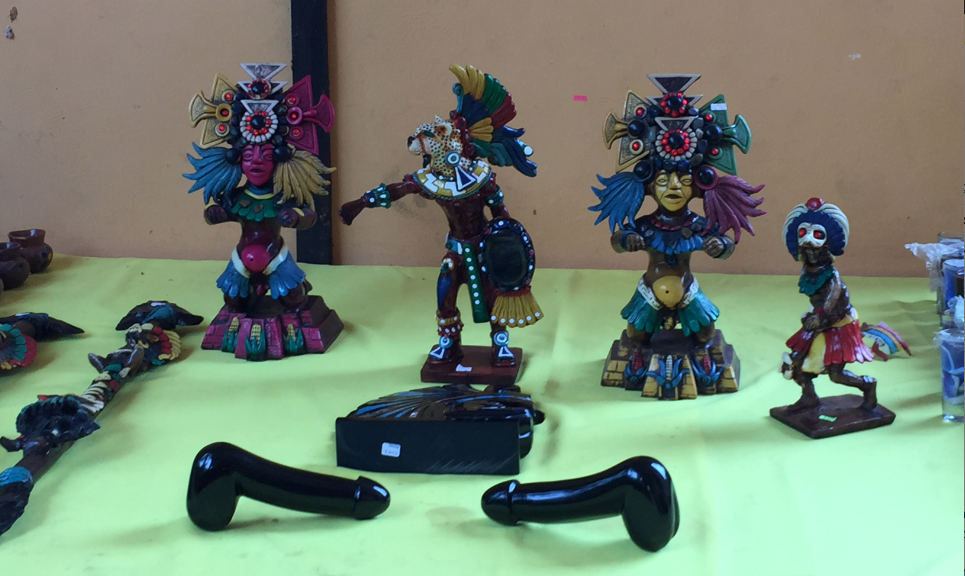Here Are A Pair Of Mayan-Made Sex Toys We Saw Up For Sale In Mexico
