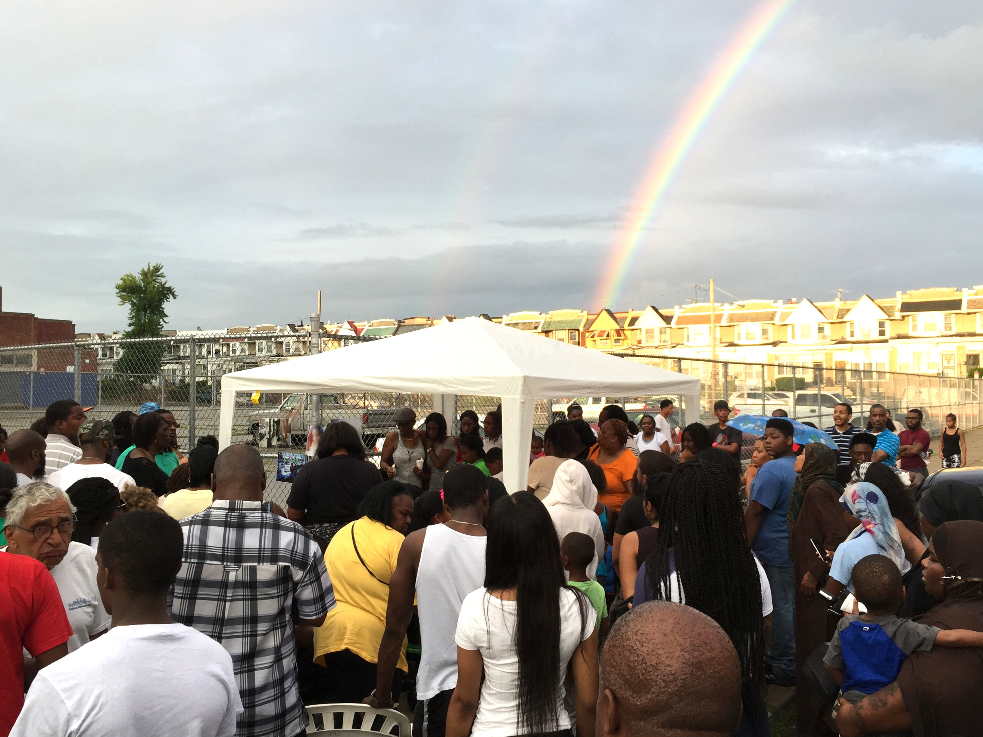 That Time A Rainbow Appeared Over A Vigil For A Homicide Victim In Philadelphia