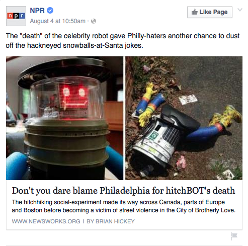 Philly Blunt Weighs In On The Demise Of #HitchBOT [Updated]