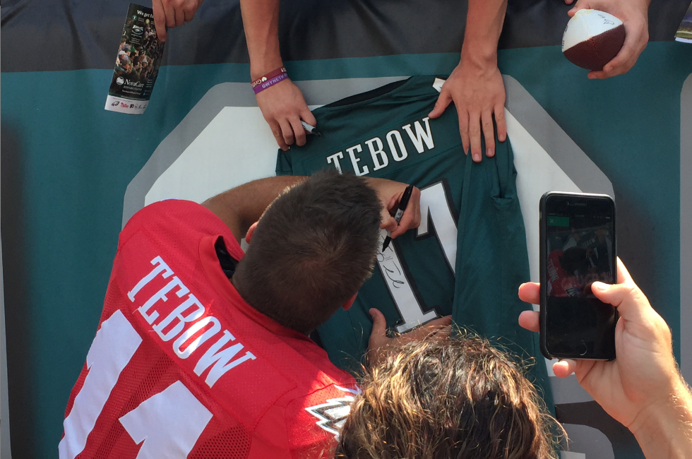 On A Mission From God To Tell The World That The Eagles Cut Tim Tebow